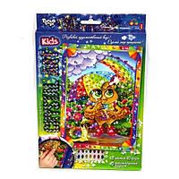 Набор Картинка из кристаллов «Cristal art» Сова-радуга Danko Toys