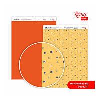 "Бумага дизайнерская двусторонний матовый ""New Yea"" 7, 21х29,7 см, 200 г/м2, ROSA TALENT"
