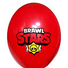 """0322 Шар 12"""" (30 см) Brawl Stars / Бравл Старс эмблема на красном (BelBal)"""
