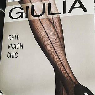 Колготки жіночі в дрібну сітку з шовчиком із зади Rete Vision Chic 40 (1), фото 2