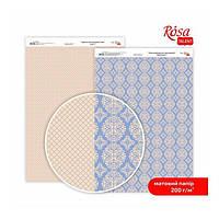 """Бумага дизайнерская двусторонний матовый""""Мереживо"""" 2, 21х29,7 см, 200 г/м2, ROSA TALENT"""
