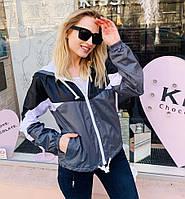 Женская куртка ветровка с капюшоном весна 2020