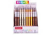 Ручка шариковая масляная PIANO PT-271 0,5мм синяя корпус разных цветов