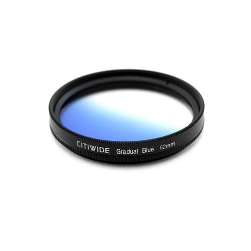 Цветной фильтр 52мм синий градиент, CITIWIDE