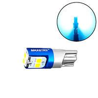 LED T10 W5W лампа в автомобиль, 6 SMD 3030, голубой