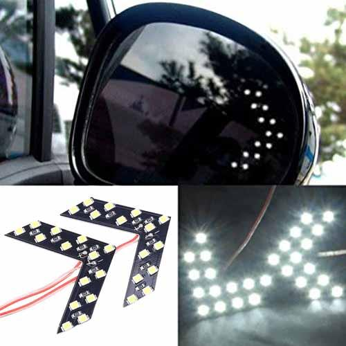LED указатели поворота зеркала заднего вида, белые, пара