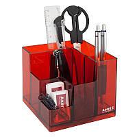 Набор настольный AXENT Cube 9 предметов в коробке красный
