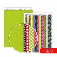 "Бумага дизайнерская двусторонний матовый ""Be in color""7 1, 21х29,7 см, 200 г/м2, ROSA TALENT"
