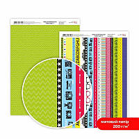 "Бумага дизайнерская двусторонний матовый ""Color style"" 7, 21х29,7 см, 200 г/м2, ROSA TALENT"