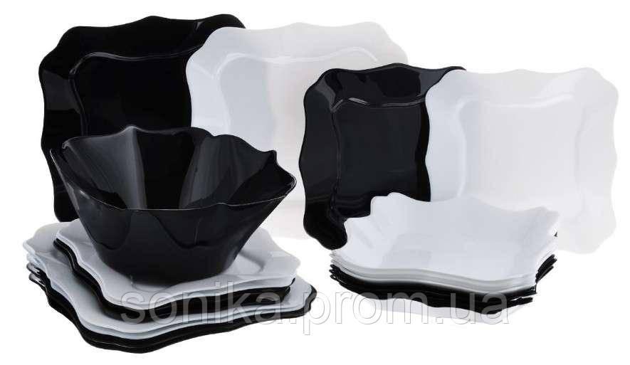 Столовий набір Luminarc e6195 Authentic Black&White 19предметів