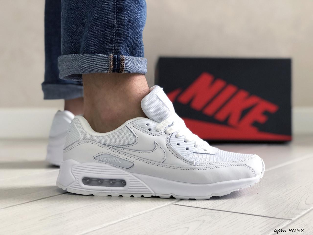 Мужские кроссовки Nike air max 90,белые 44,45,46