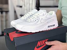 Мужские кроссовки Nike air max 90,белые 44,45,46, фото 2