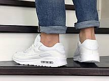 Мужские кроссовки Nike air max 90,белые 44,45,46, фото 3
