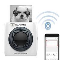 Термопринтер мобильный карманный Bluetooth для фото PAPERANG P2 300dpi, фото 1