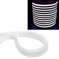Гибкий светодиодный неон SMD 2835 120/м IP68, 1м белый 220В
