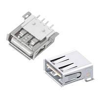 Разъем USB 2.0 мама 4pin AF 90 градусов SMT SMD