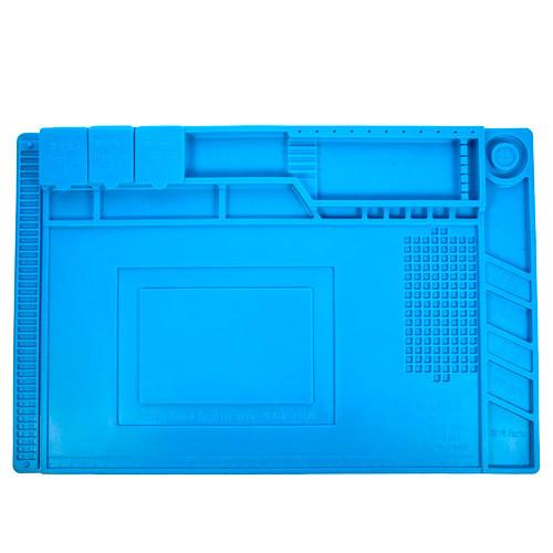 Коврик для пайки силиконовый термостойкий 45х30см с магнитными ячейками