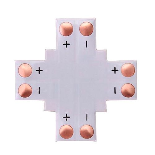 Коннектор X-образный для светодиодных лент 8мм SMD 3528 2835
