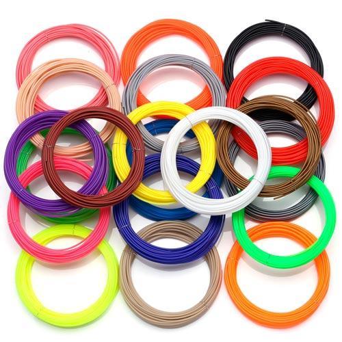Филамент пластик PLA 20 цветов 200м 1.75мм для 3D-ручки, запаски