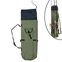 Чехол для 5 удочек удилищ 106см рюкзак тубус рыболовный, нейлон