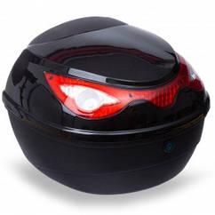 Мотосумка (1 кофр) центральный MS-688 (PL, пластик, р-р см, черный-красный) Код MS-688