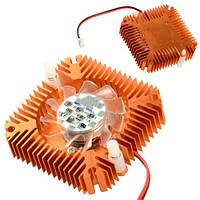 Вентилятор с радиатором 55мм 12В 2пин кулер для видеокарты
