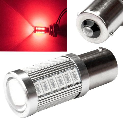 LED 1156 BA15S P21W лампа в автомобиль, 33 SMD 5630, красный