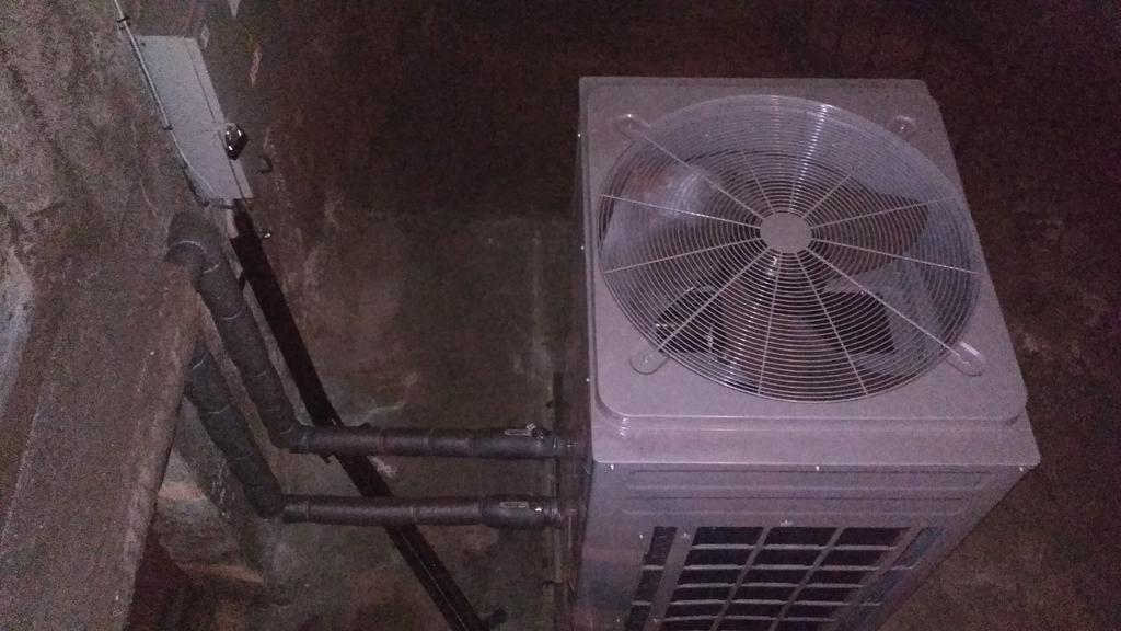 Тепловой насос CH-HP28CMFNM на ст. метро Берестейская в Киеве  1