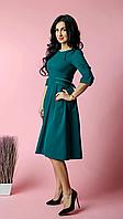 Стильное женское платье миди из турецкой крепкостюмки, фото 1