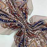 Східна принцеса 1908-2, павлопосадский вовняну хустку з оверлком, фото 7
