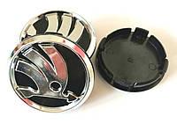 Колпачки в диски Skoda (60/55мм,объемные)