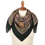 Восточная принцесса 1908-9, павлопосадский платок шерстяной  с оверлоком, фото 3