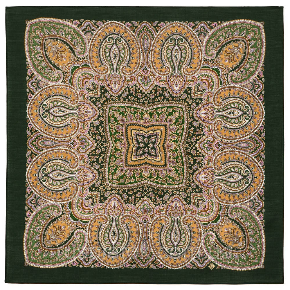 Восточная принцесса 1908-9, павлопосадский платок шерстяной  с оверлоком