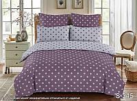 Двуспальный комплект постельного белья в Горошек, Люкс-сатин
