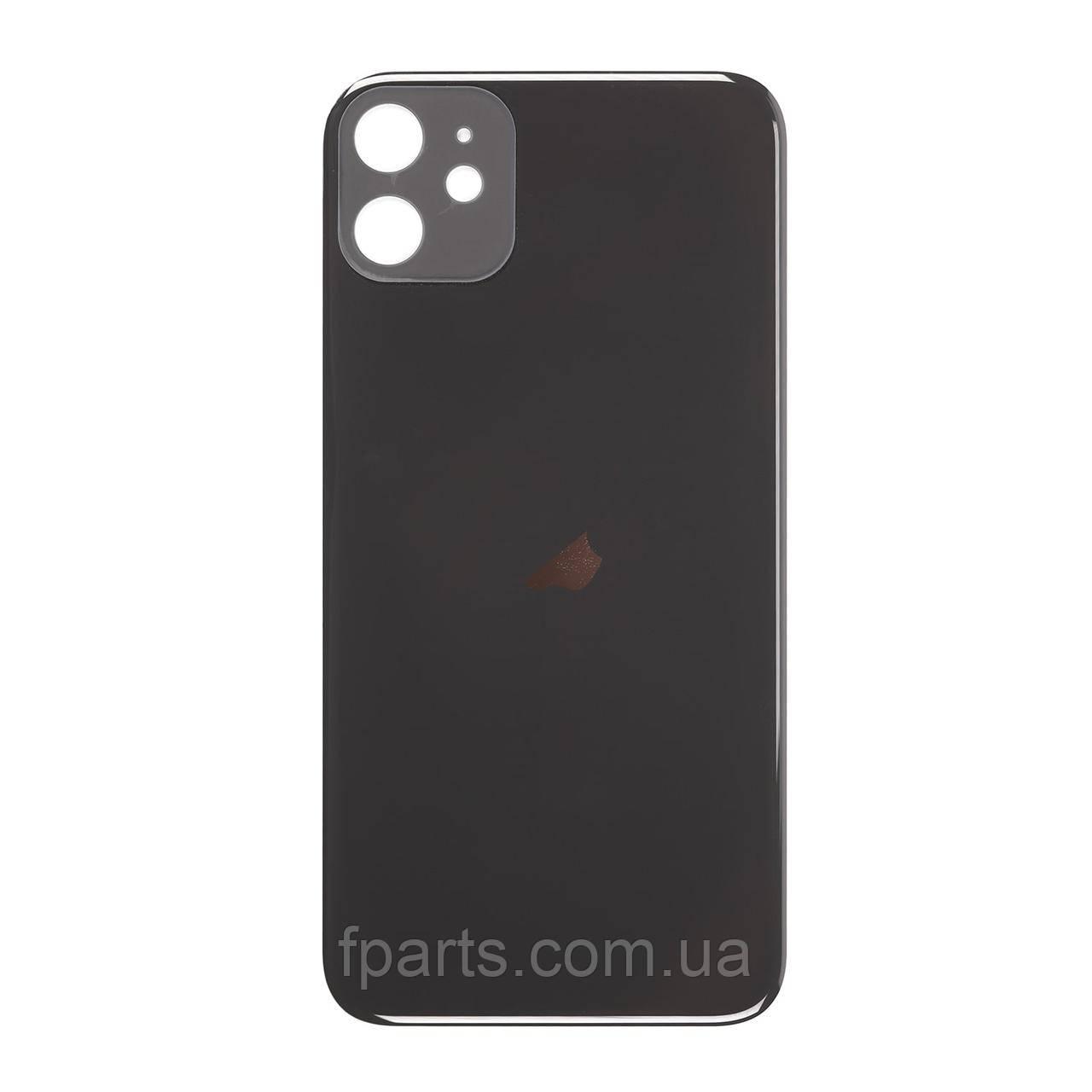 Задняя крышка iPhone 11 (большой вырез под камеру) Black