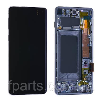 Дисплей для Samsung G973 Galaxy S10 с тачскрином, Black, GH82-18850A, Original, фото 2