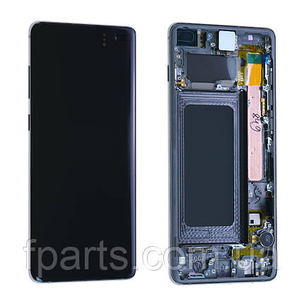 Дисплей Samsung G975 Galaxy S10+ з тачскріном, Black, GH82-18849A, Original, фото 2