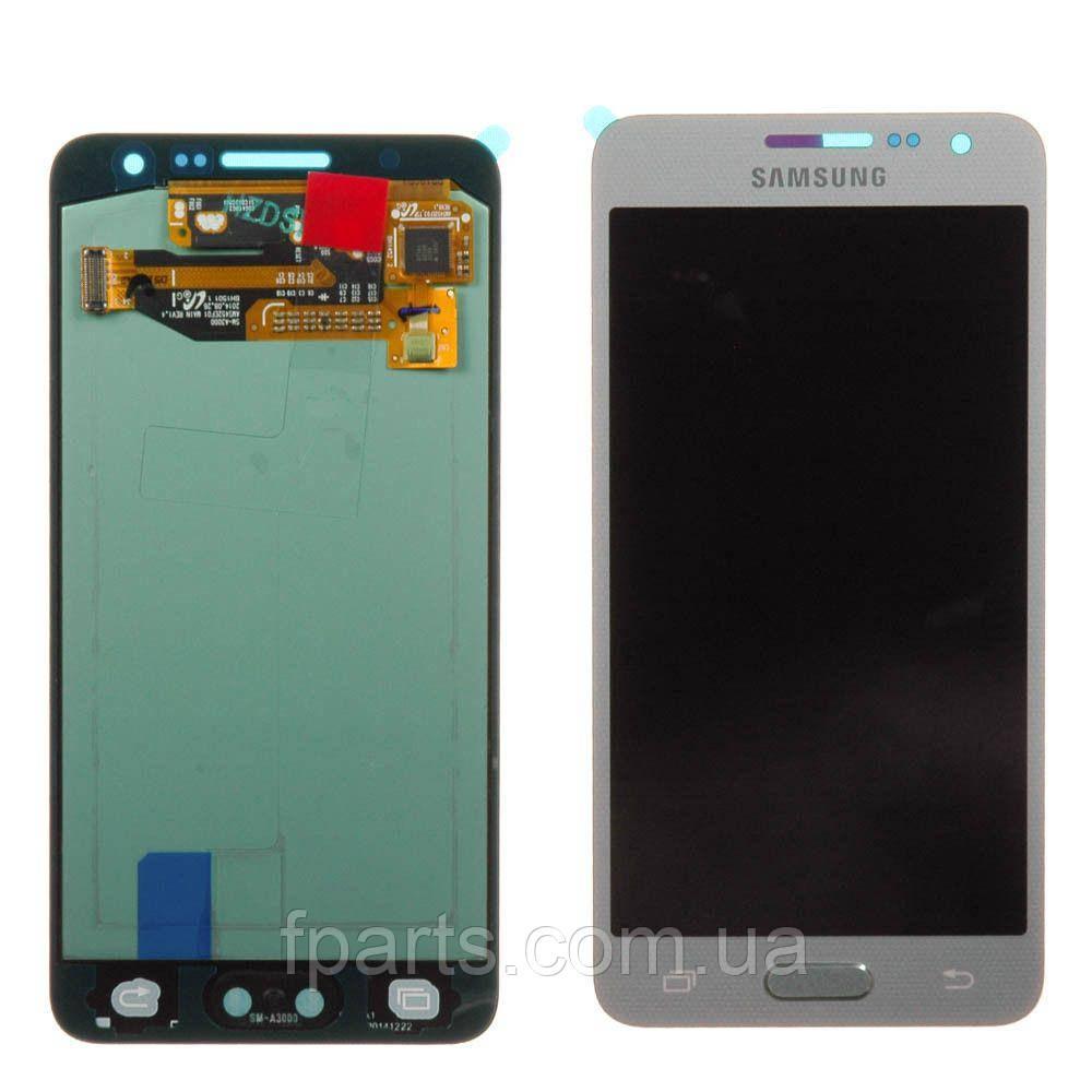 Дисплей для Samsung A300 Galaxy A3 с тачскрином, Silver (Service Pack Original)