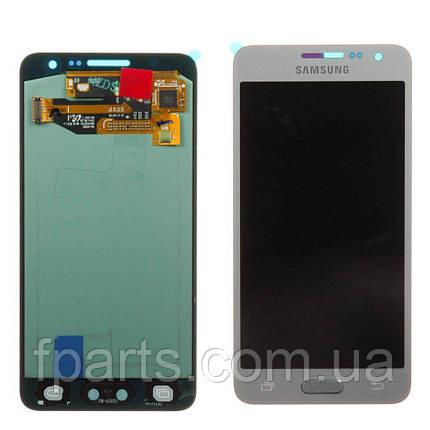 Дисплей для Samsung A300 Galaxy A3 с тачскрином, Silver (Service Pack Original), фото 2