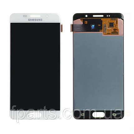 Дисплей для Samsung A510 Galaxy A5 2016 с тачскрином, White (Service Pack Original), фото 2
