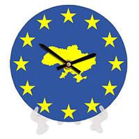 Круглые часы 18 см Карта Украины