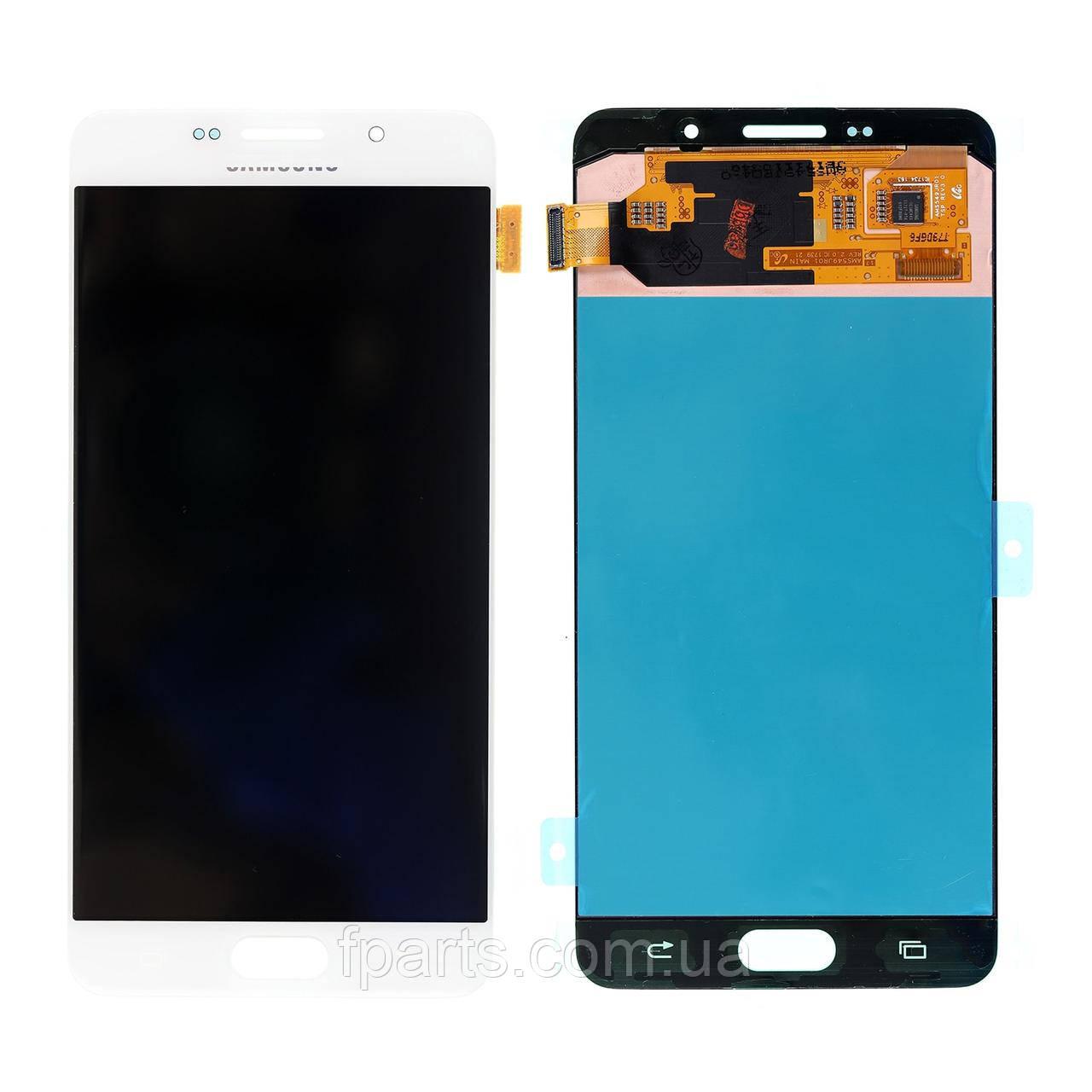 Дисплей для Samsung A710 Galaxy A7 2016 с тачскрином, White (Service Pack Original)