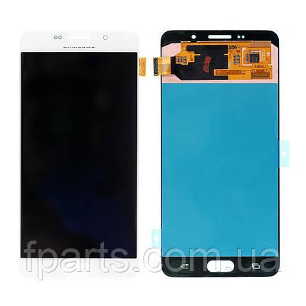 Дисплей для Samsung A710 Galaxy A7 2016 с тачскрином, White (Service Pack Original), фото 2