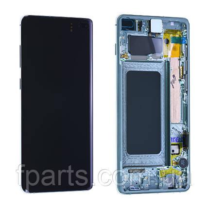 Дисплей для Samsung G975 Galaxy S10+ с тачскрином, Green, GH82-18849E, Original, фото 2