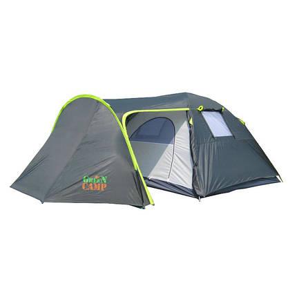 Двухслойная палатка 4-х местная туристическая Green Camp 1009, фото 2