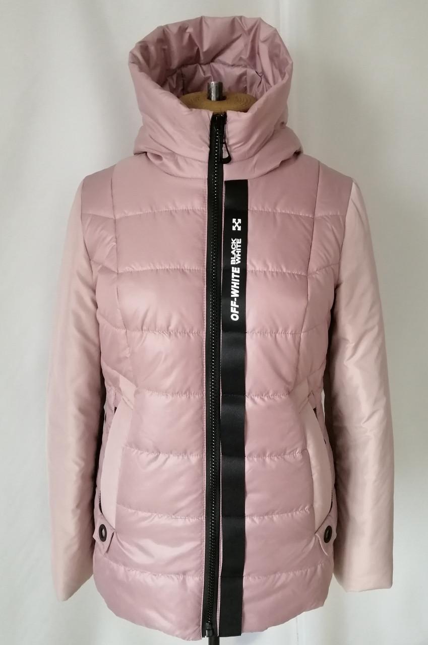 Осенние куртки женские большие размеры  48-58 пудра