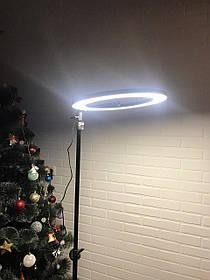 Кольцевая светодиодная лампа со штативом 36см кольцевой свет светодиодное кольцо с держателем для телефона