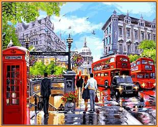 Картина по номерам на холсте 40х50см Весна в Лондоне