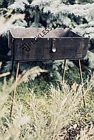Мангал-чемодан на 8 шампуров,3 мм   переносной для шашлыка и гриля