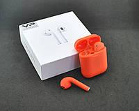 Bluetooth-гарнитура Veron VR-01 (+кейс для зарядки и хранения) Orange